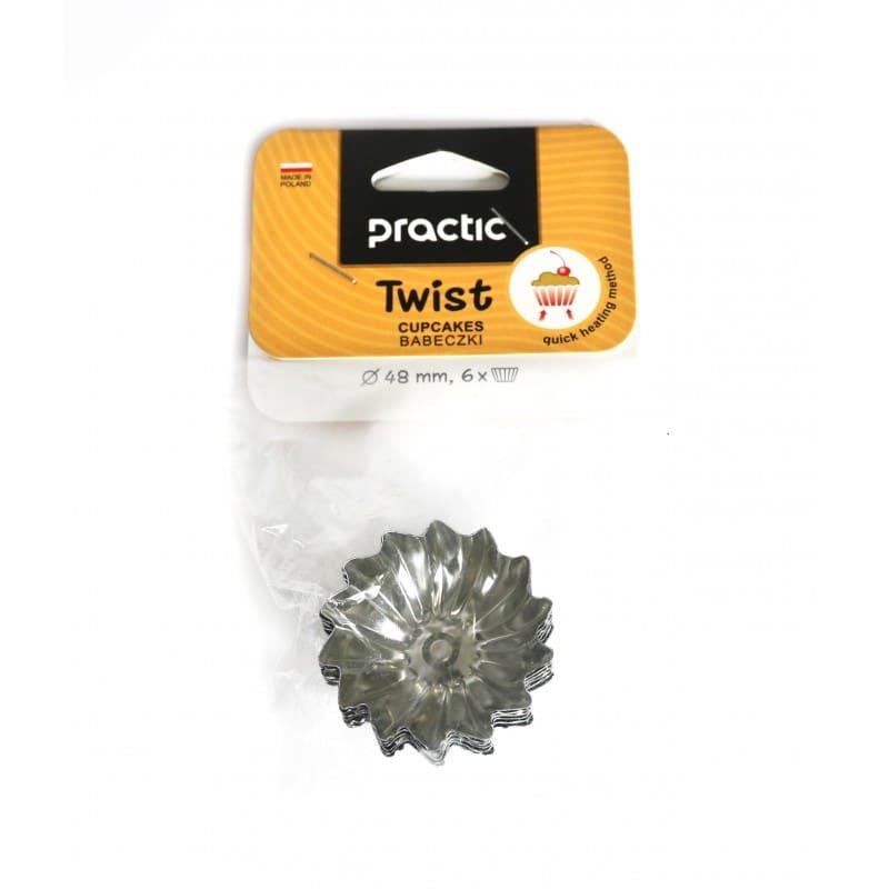 "Cake cups "" Twist"" pattern 48 mm - 6pcs."