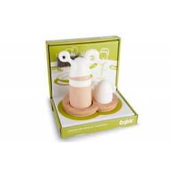 Pepper mil and salt container white color