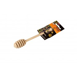 WOODEN HONEY DIPPER ON CLIP STRIPE