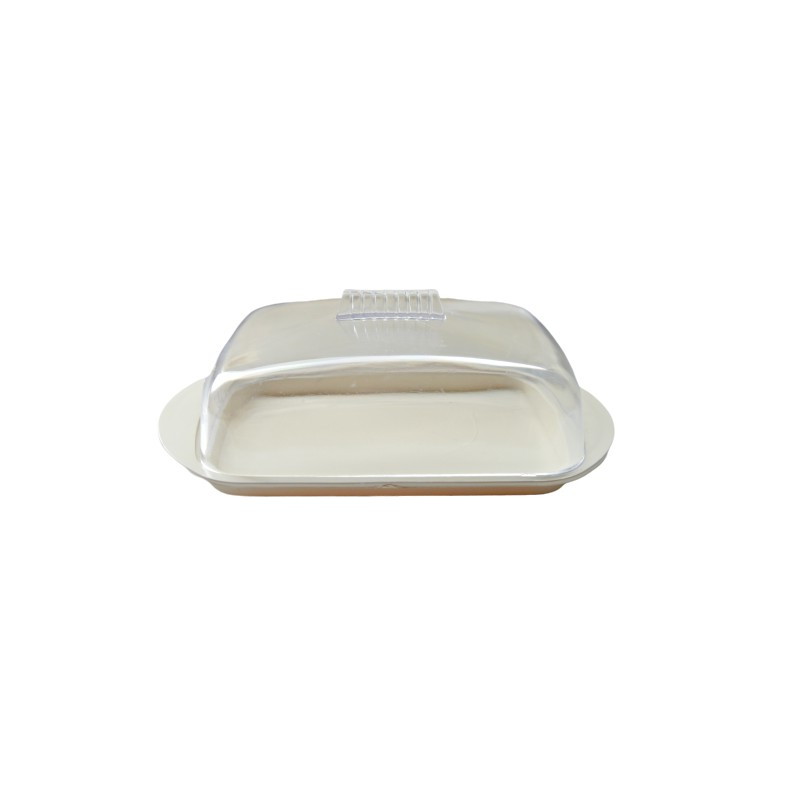 BUTTER DISH COLOR WHITE