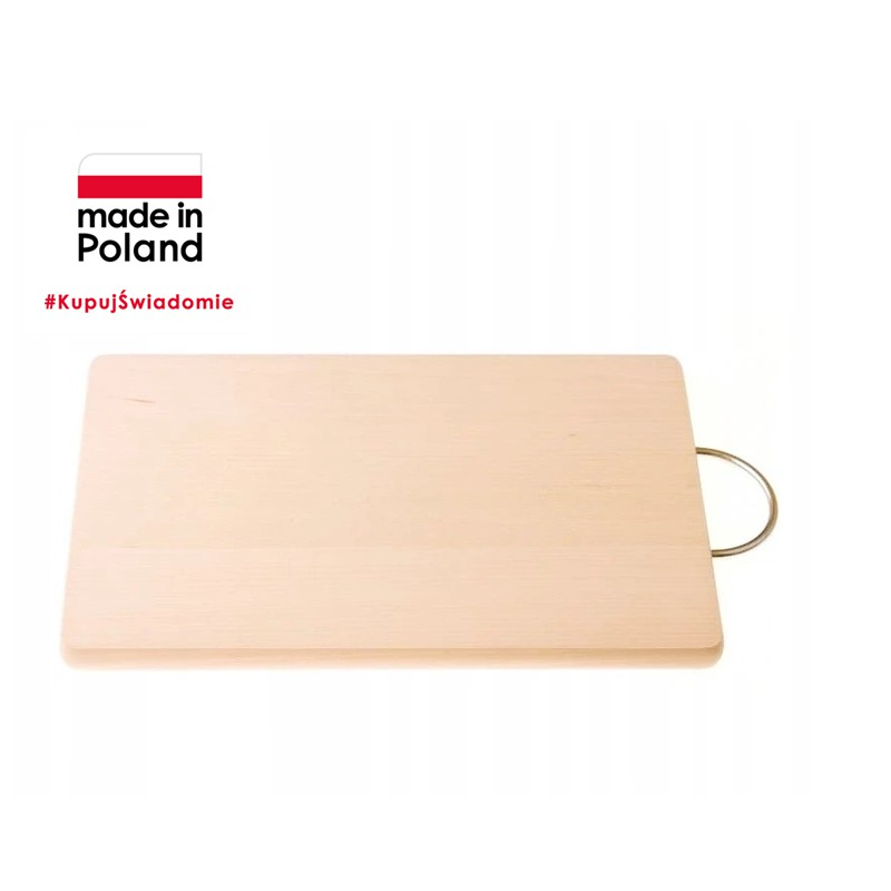 CHOPPING BOARD 33x21 cm WITH METAL HANDLE