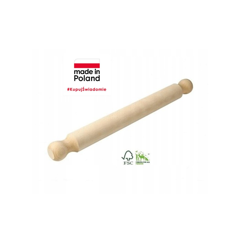 BEECH WOOD PIZZA ROLLING PIN SMALL