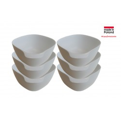 Set of 6 bowls color white