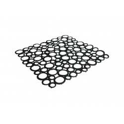 Square sink mat black color