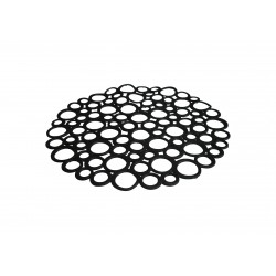 Round mat sink black color