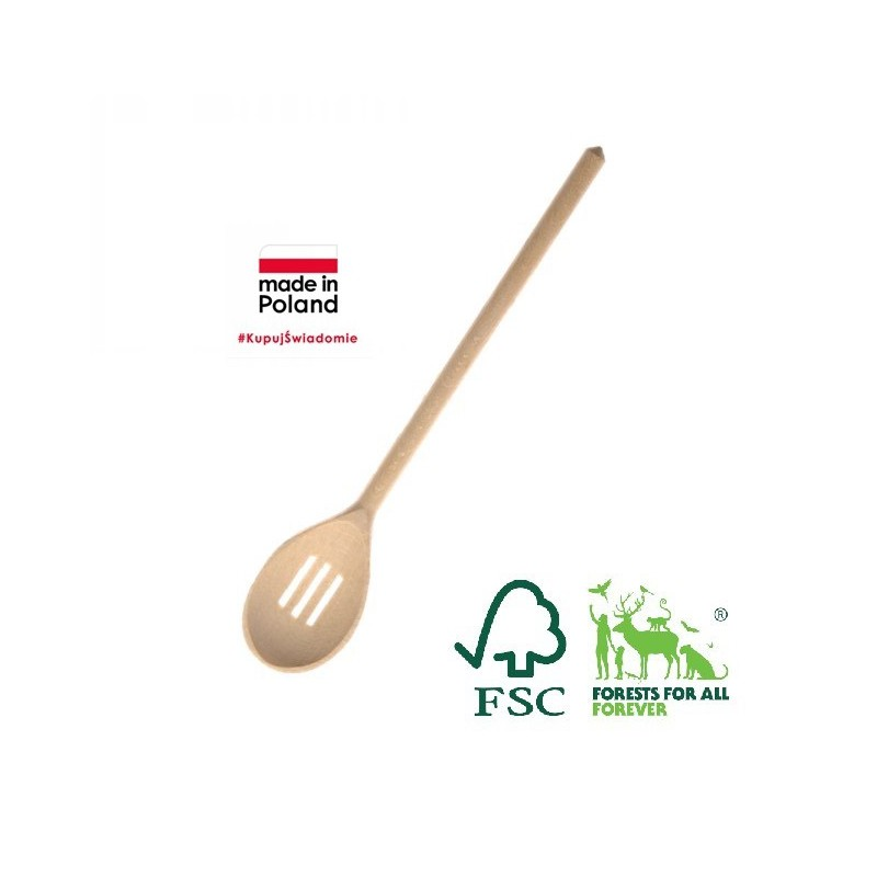 BEECH WOOD SLOTTED SPOON