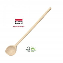 BEECH WOOD ROUND SPOON WITH...