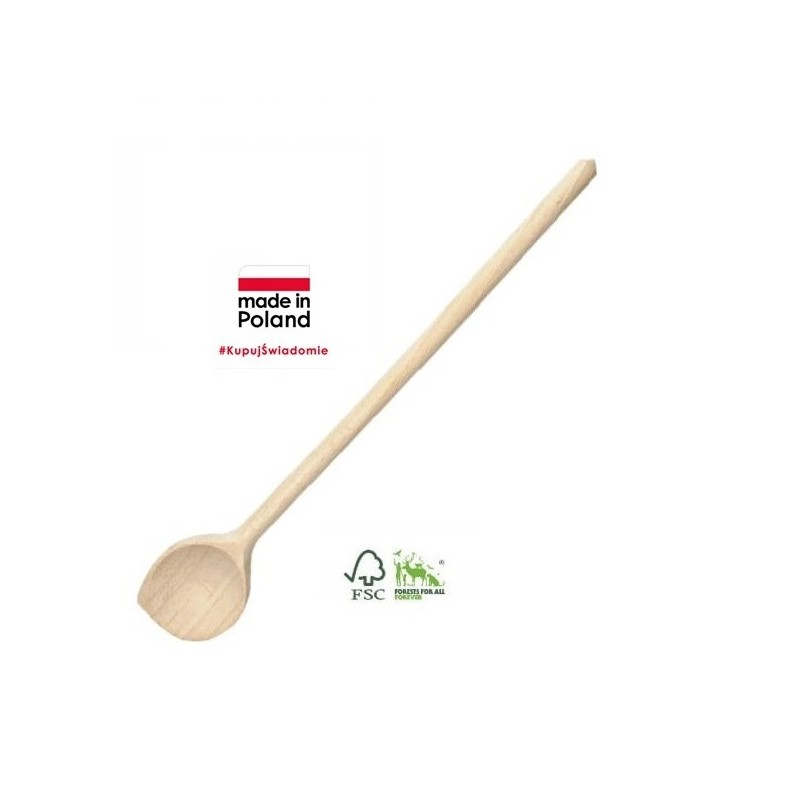 BEECH WOOD ROUND SPOON WITH CORNER
