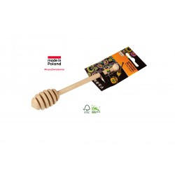 WOODEN HONEY DIPPER ON CLIP...