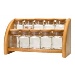 10 containers with rack