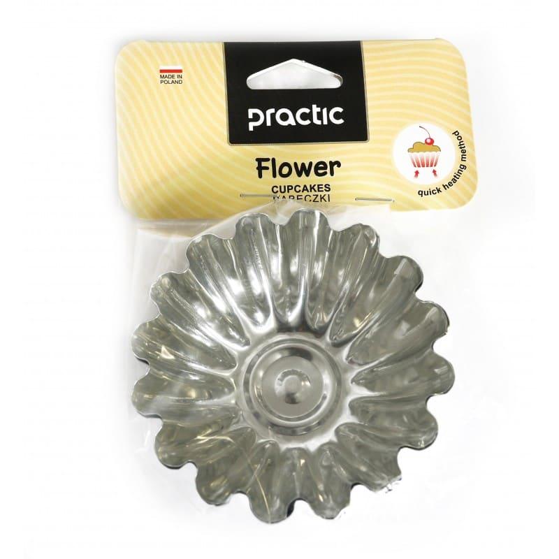 "Cake cups ""FLOWER"" pattern 96 mm"