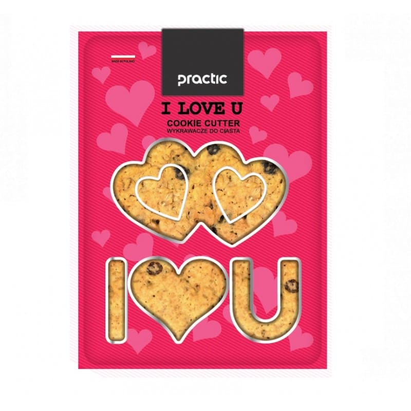 "Cookie cutters "" I LOVE YOU"""