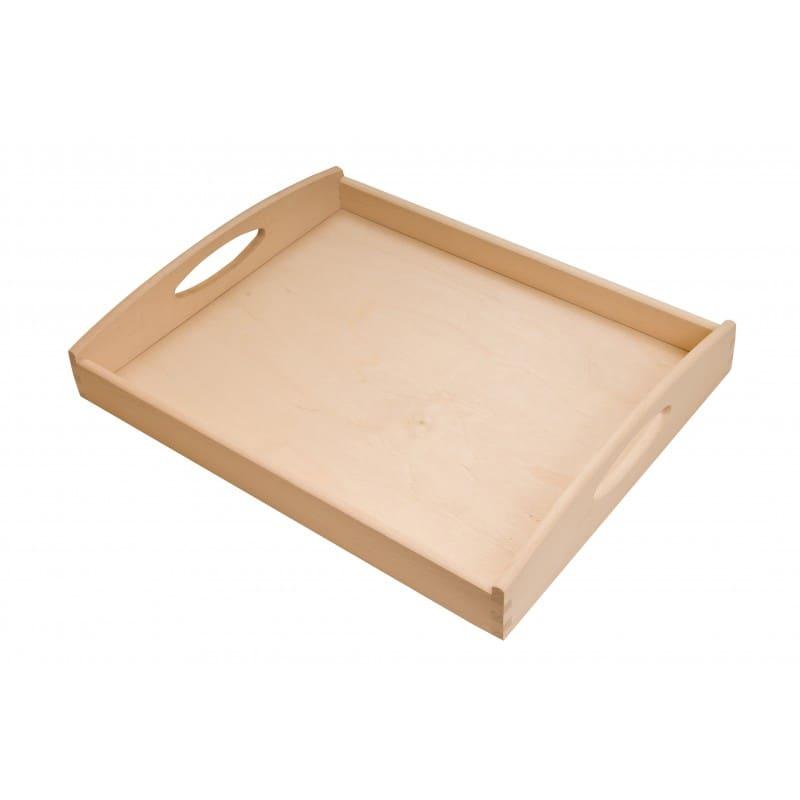 Beech wood tray 40x30x6 cm